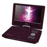 SPV 2918 DARK RED Portable DVD Player