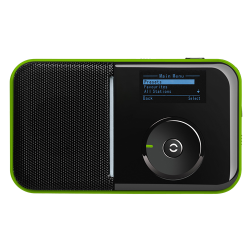SIR 007 GREEN Radio portabil-receptor-internet -wifi