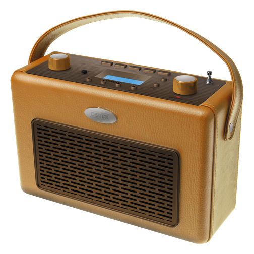 SRD 300 LIGHT BROWN Retro Portable Radio with USB
